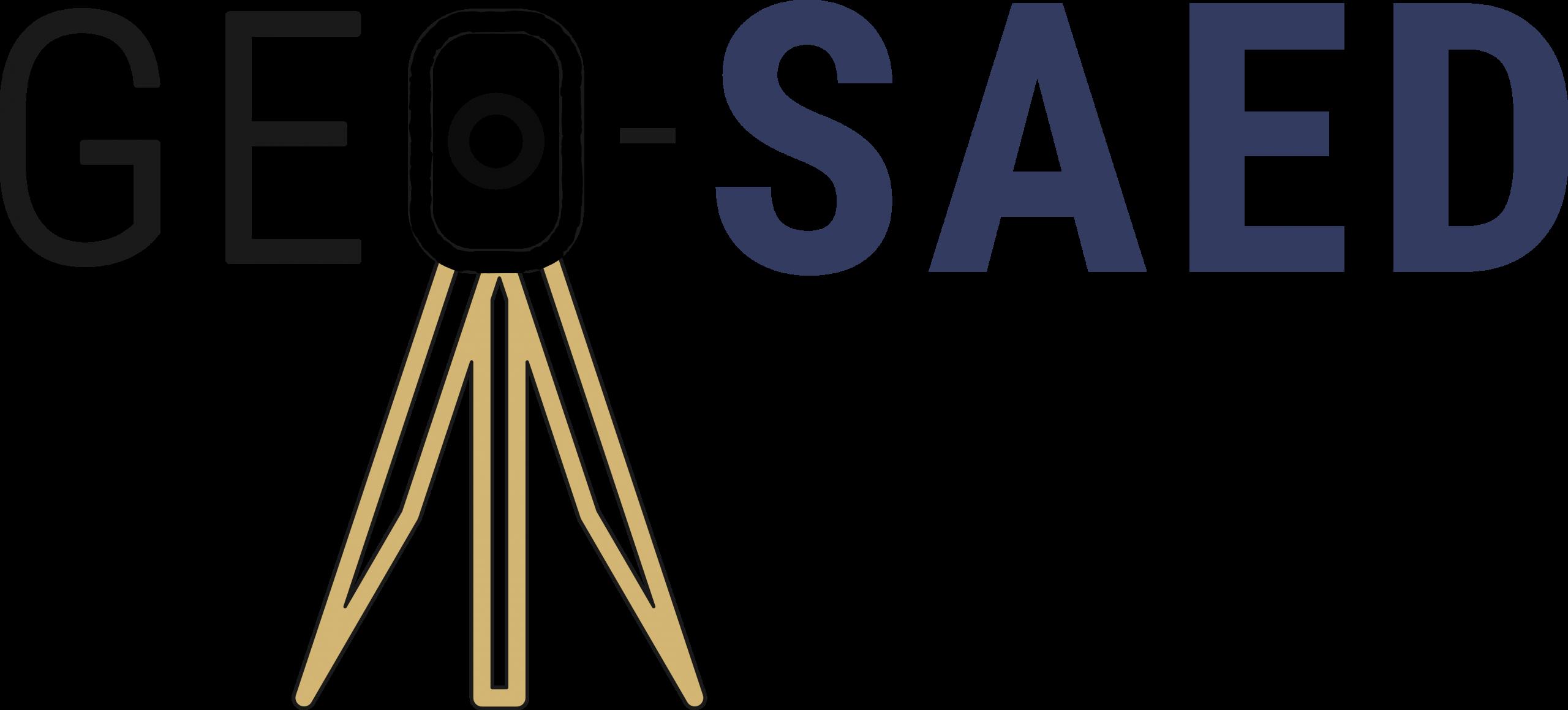 De Saedeleer - Beëdigd Landmeters-Experten Logo geo-saed met landmeter
